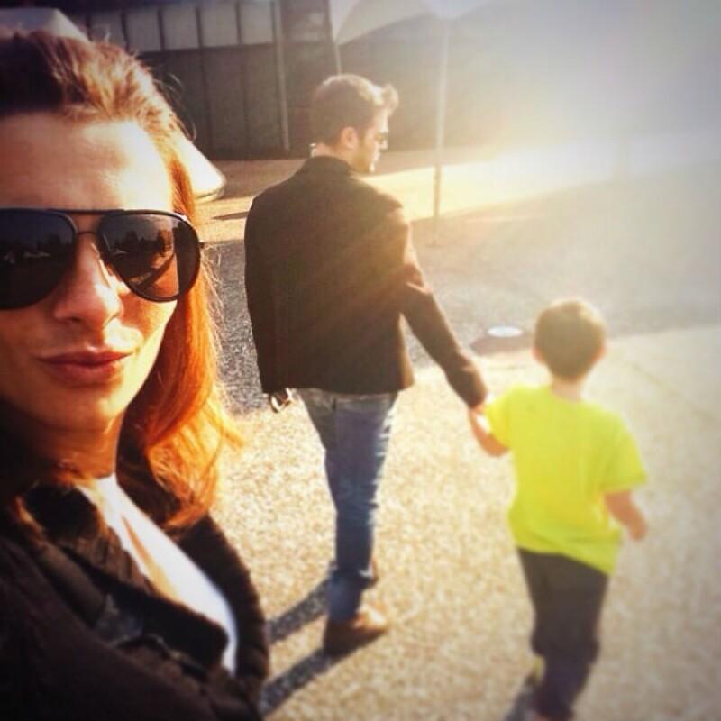 Mark Tacher ya consideraba como su familia a Cecilia Galliano y sus dos hijos Valentina y Santiago.