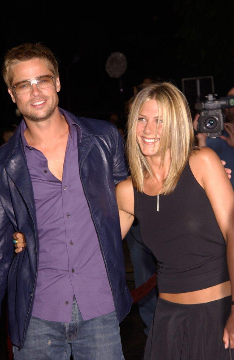 Jennifer Aniston, Brad Pitt.