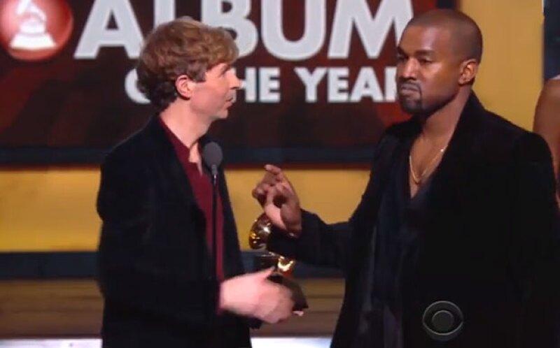 Kanye estuvo a punto de interrumpir el discurso de Beck en los Grammy.