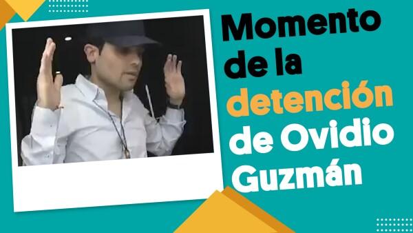 Momento exacto en el que Ovidio Guzmán fue detenido | #EnSegundos ⏩