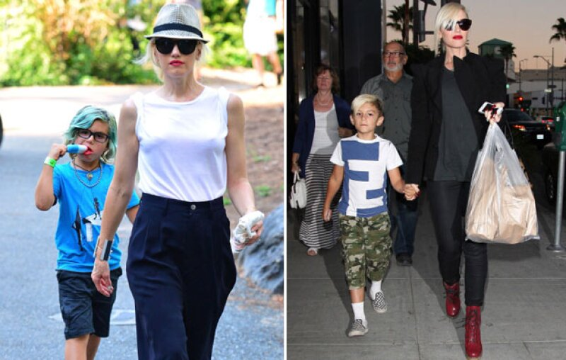 Gwen y su hijo no solo se ven igual, se visten igual.