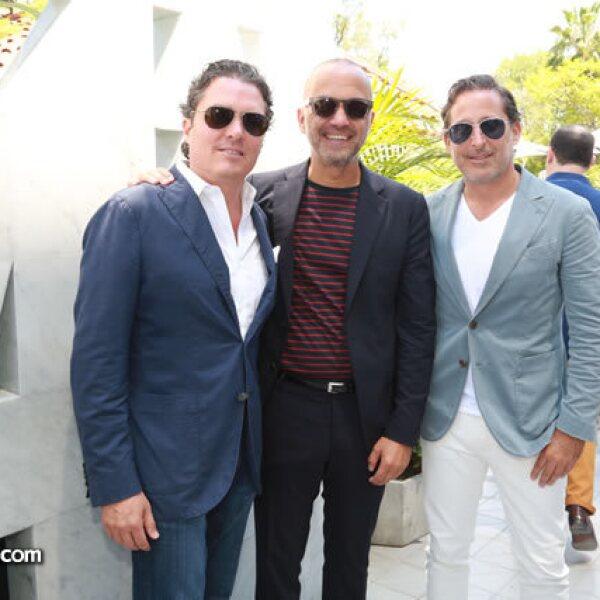 Rodrigo Ramos,Carlos Couturier y Moisés Micha