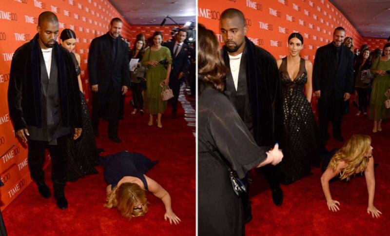 La expresión de Kanye y Kim ante lo sucedido no fue, para nada, de sorpresa.