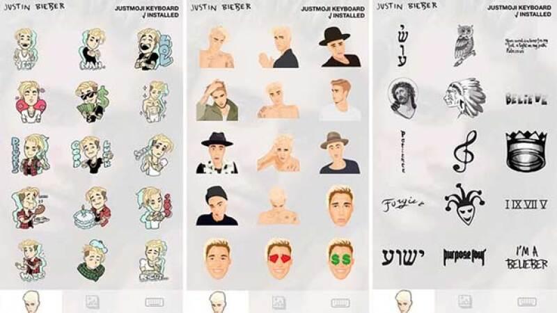 El cantante lanzó su propia app de emojis, la cuál incluye todos sus looks, tatuajes y momentos divertidos. Te damos todos los detalles.