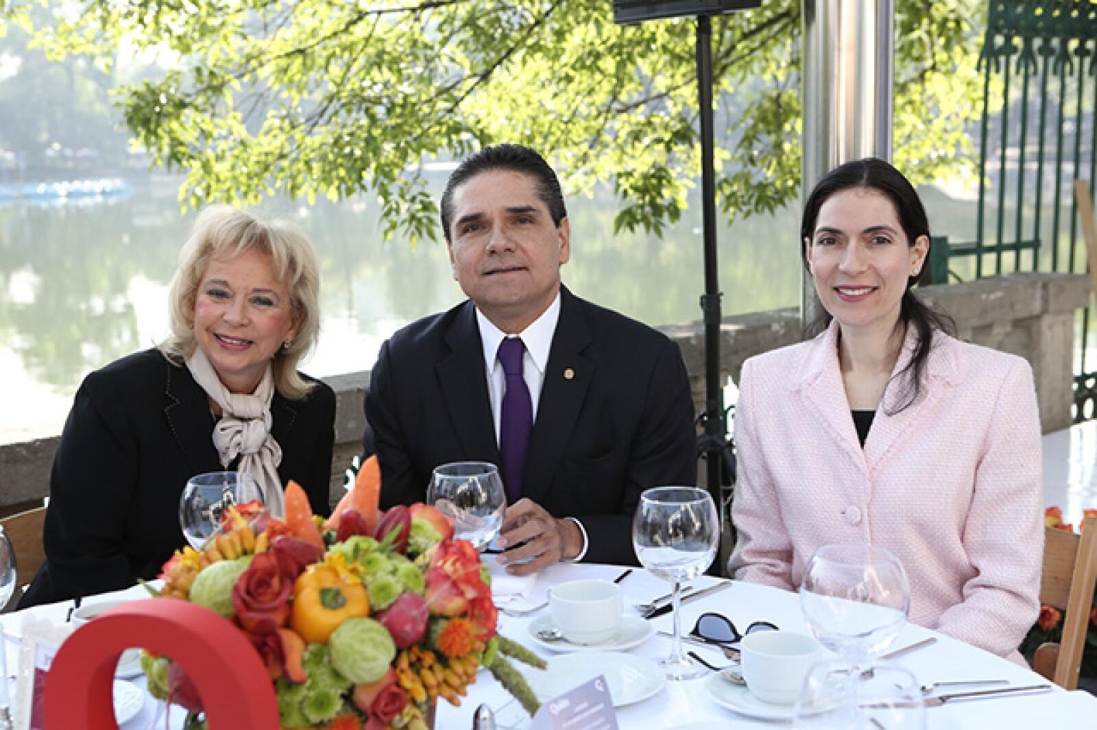 Olga Sánchez, Silvano Aureoles Conejo y Paula García