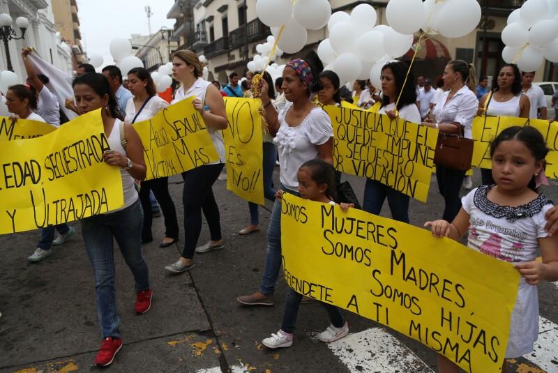 Familiares de Daphne convocaron a una marcha con el fin de exigir castigo para sus supuestos agresores.