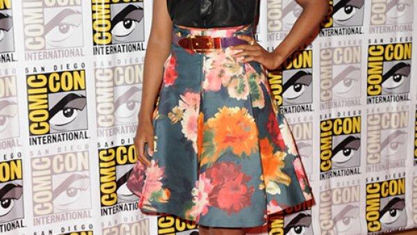 Kerri Washington con un outfit de inspiración retro fue de las mejores vestidas del evento.