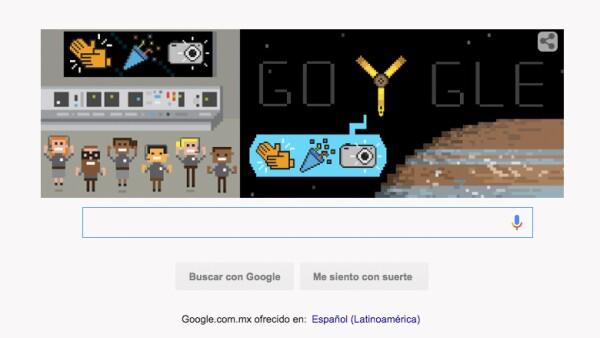 En el 'doodle' se celebra la llevada de la sonda a la órbita de Júpiter.
