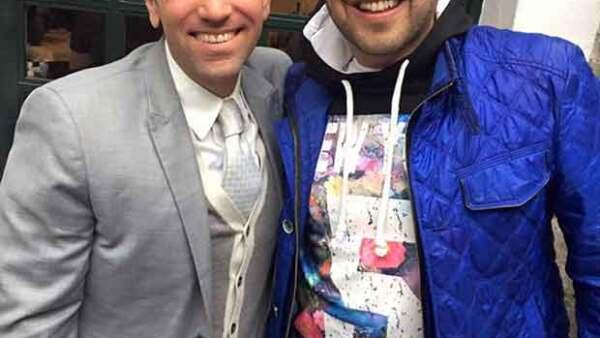 El titular de Primero Noticias y el periodista de espectáculos estuvieron juntos en el baby shower de Odalys, luego de que se dijera que tuvieron problemas por las adicciones de Clark.