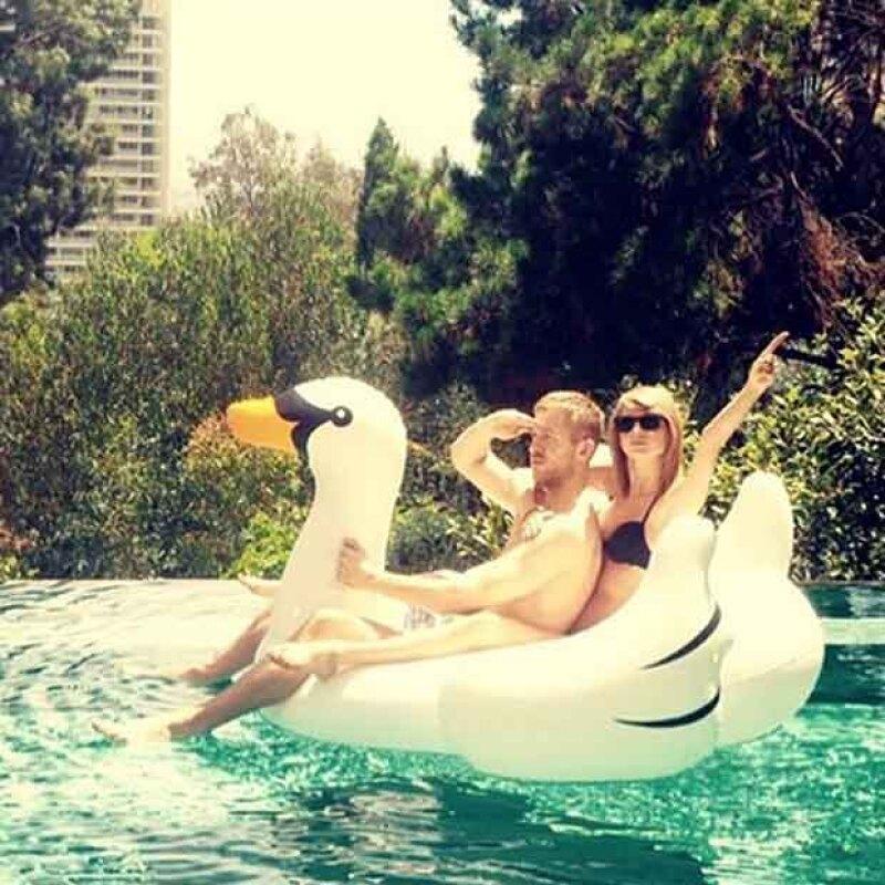 ¿Cómo olvidar la foto ex pareja de Taylor y Calvin en un ganzo?
