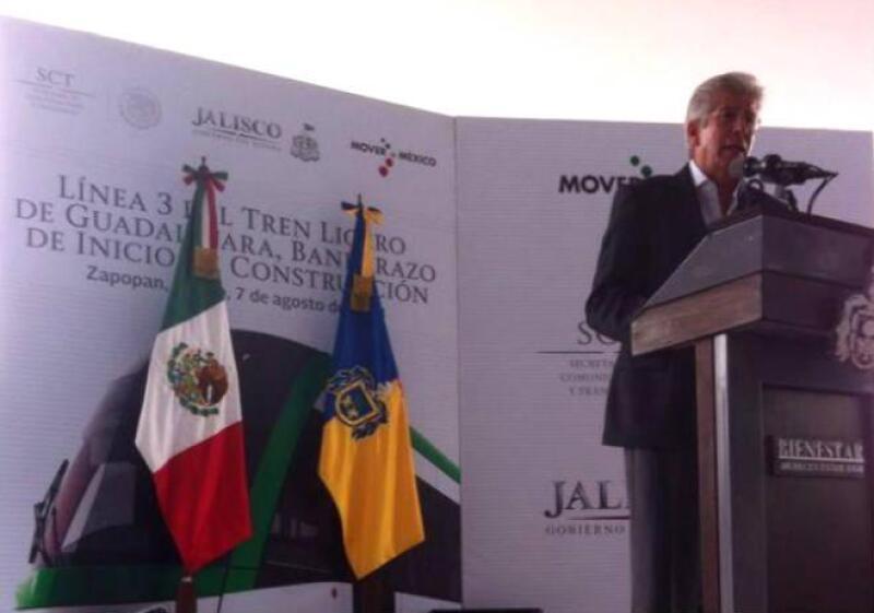 SCT da banderazo a trabajos en tren ligero de Jalisco