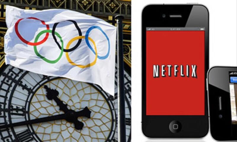 Netflix se enfrenta a la transmisión gratuita de los Juegos Olímpicos en el sito web de la cadena televisiva NBC.  (Foto: Cortesía CNNMoney)