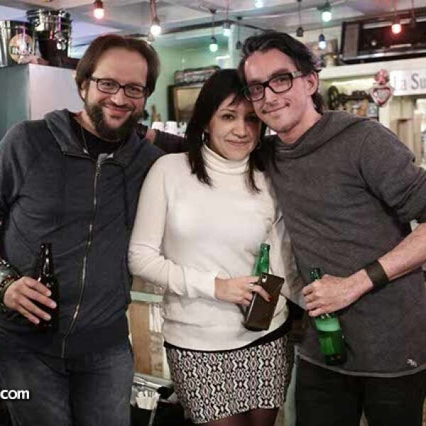 Hugo Breton,Mariana Martínez y David Leal