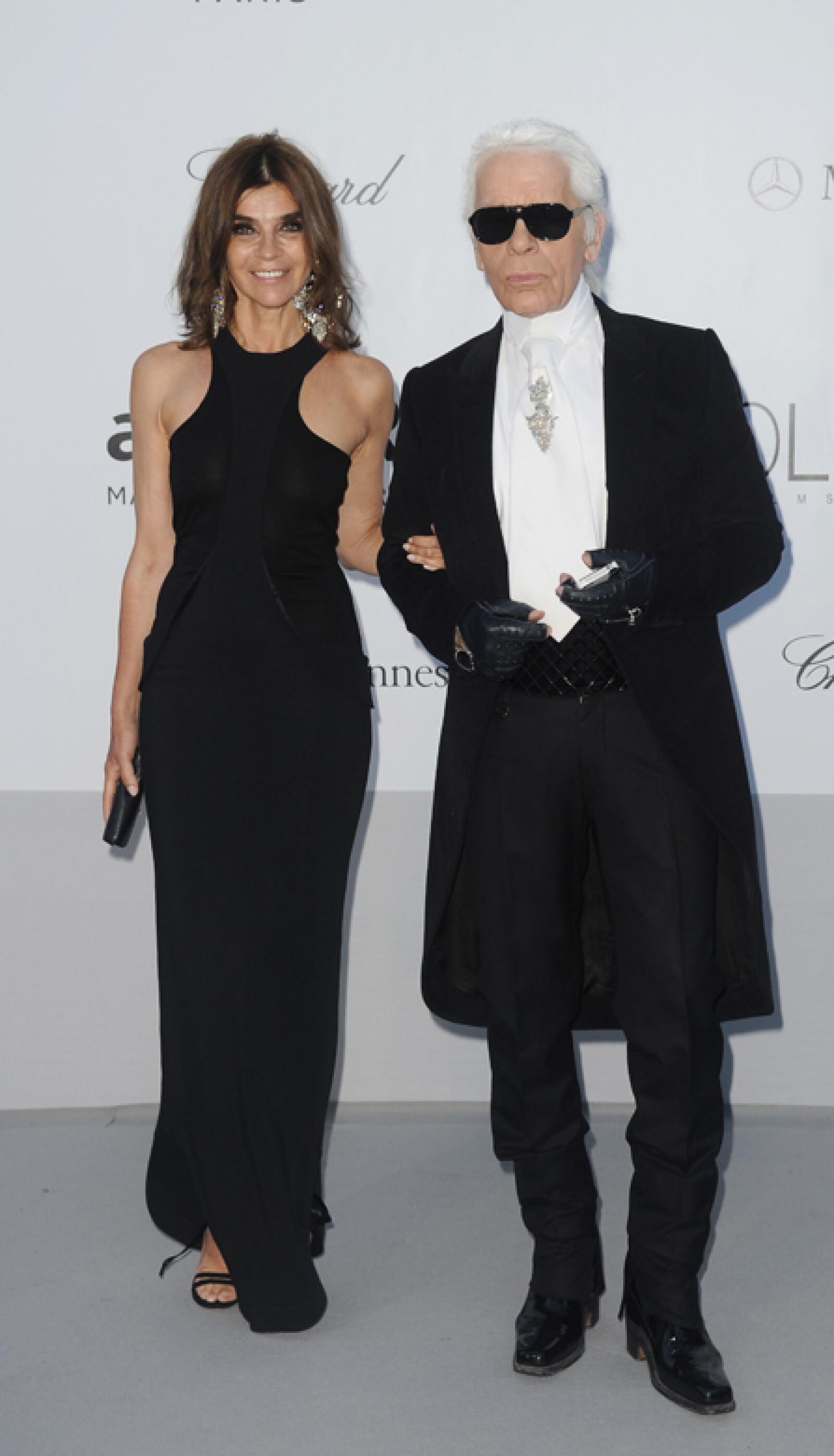 Karl lagerfeld y Carine Roitfeld.