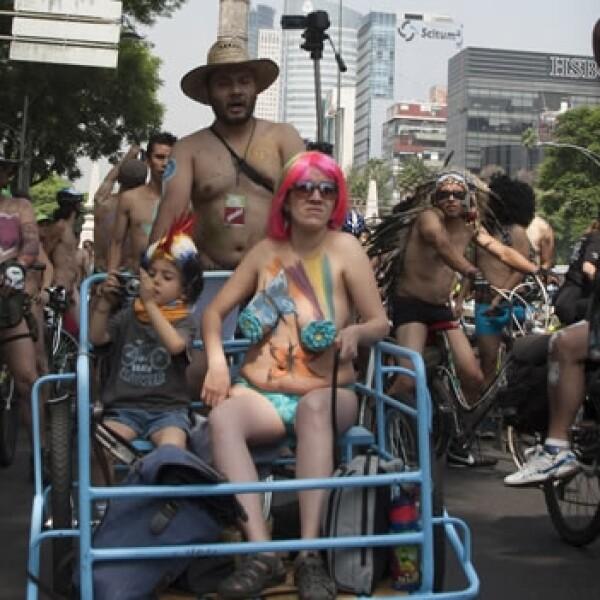 rodada al desnudo, df, bicicletas