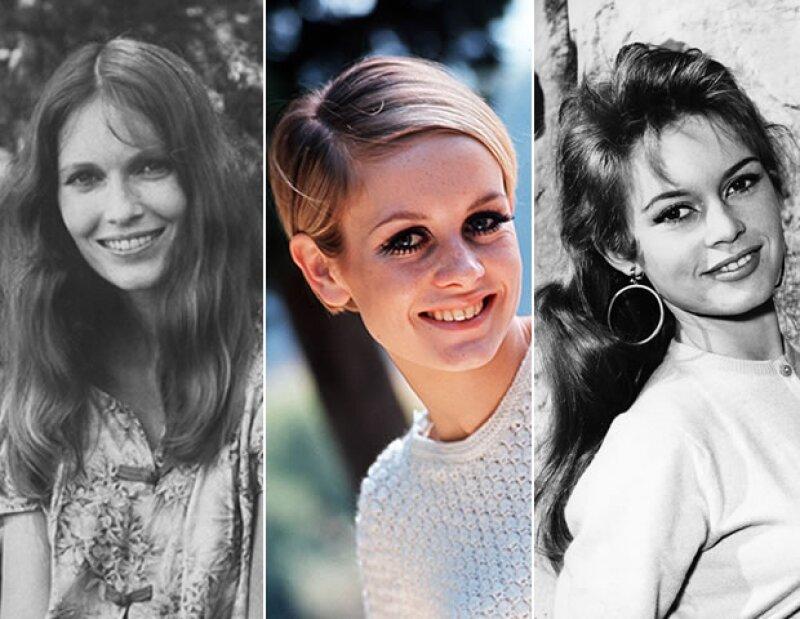 Mia Farrow, Twiggy y Brigitte Bardot fueron grandes íconos en los 60's.