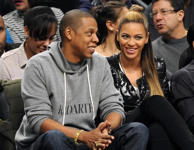 Jay-Z con Beyoncé.