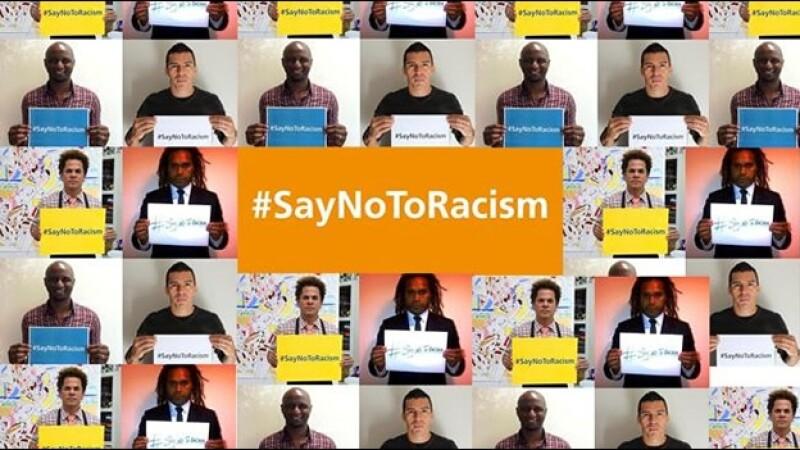 La campaña en contra del racismo que lanza la FIFA  y en la que se busca crear conciencia de que no hay lugar para dicha práctica en el futbol