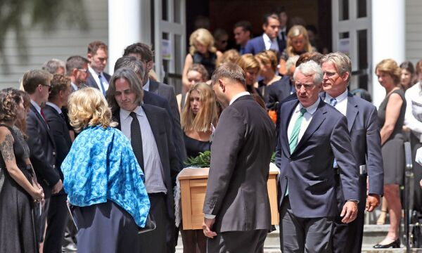 Kennedy Family Gathers For Funeral Of 22-Year-Old Saoirse Kennedy Hill On Cape Cod