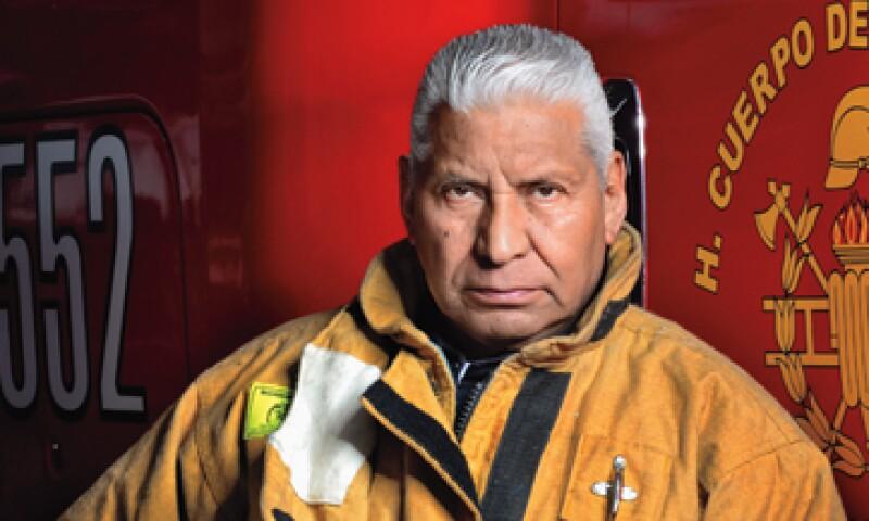 Raúl Esquivel, director del Heroico Cuerpo de Bomberos de la Ciudad de México. (Foto: Ramón Sánchez Belmont)