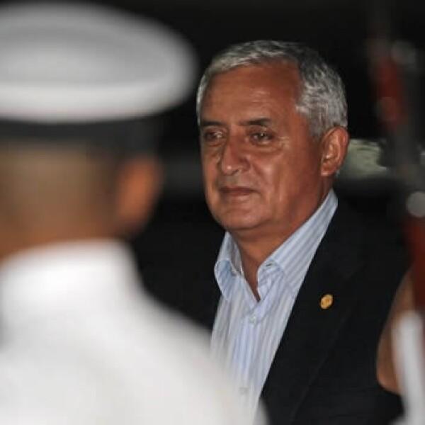 El presidente de Guatemala, Otto Pérez
