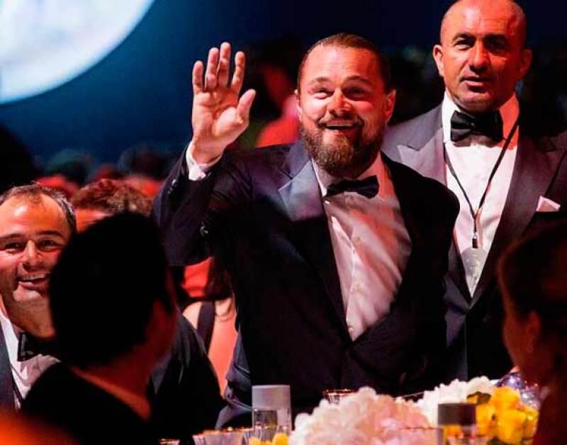 El actor fue uno de los más generosos al donar un Bansky que fue subastado en un millón de dólares.