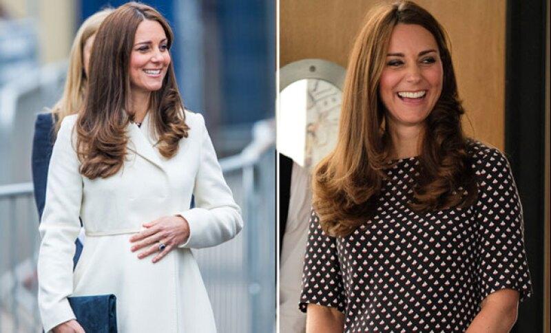 Este ha sido uno de los más recientes outfits que hacen lucir a Kate no solo elegante, sino resaltan su bella pancita.