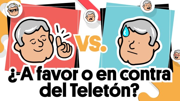 ¿AMLO está a favor o en contra del Teletón? | #AMLOVsAMLO
