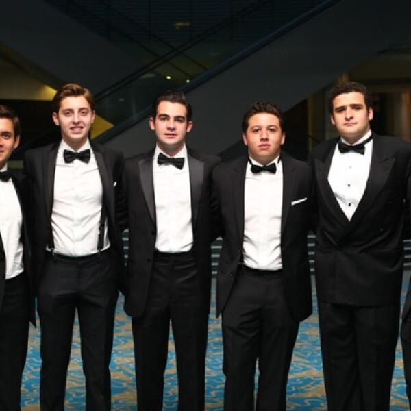 Patricio Lebois, Juan Pablo Meza, Gonzalo Lanzagorta, Pedro Flores, Andres Barrera y Antonio Cornejo