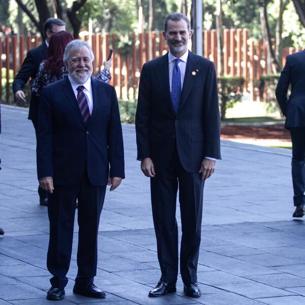 Rey de España Felipe VI llega a San Lázaro