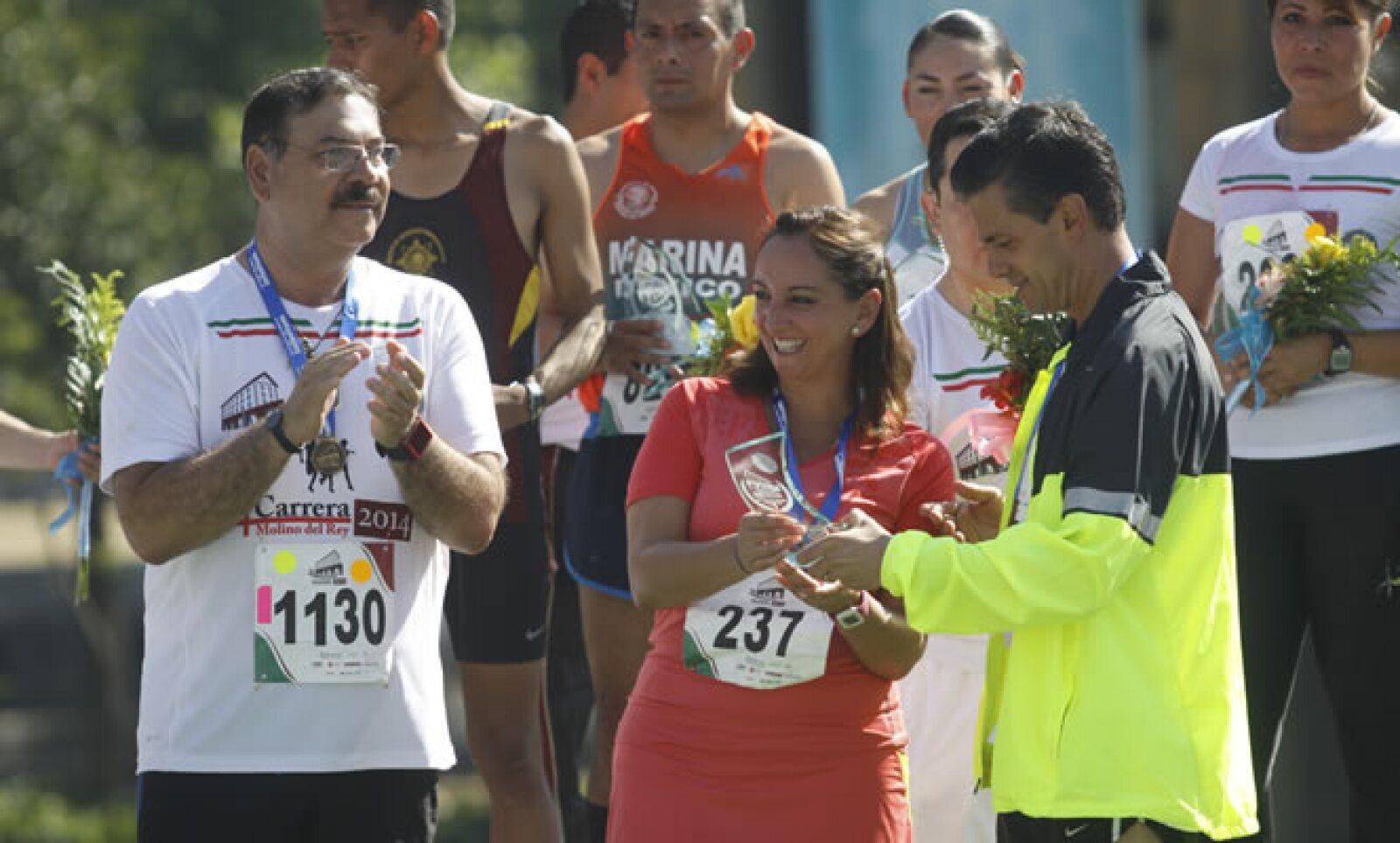 El mandatario estuvo acompañado por las secretarias de Turismo, Claudia Ruiz Massieu, y el jefe del Estado Mayor Presidencial, Roberto Miranda Moreno.