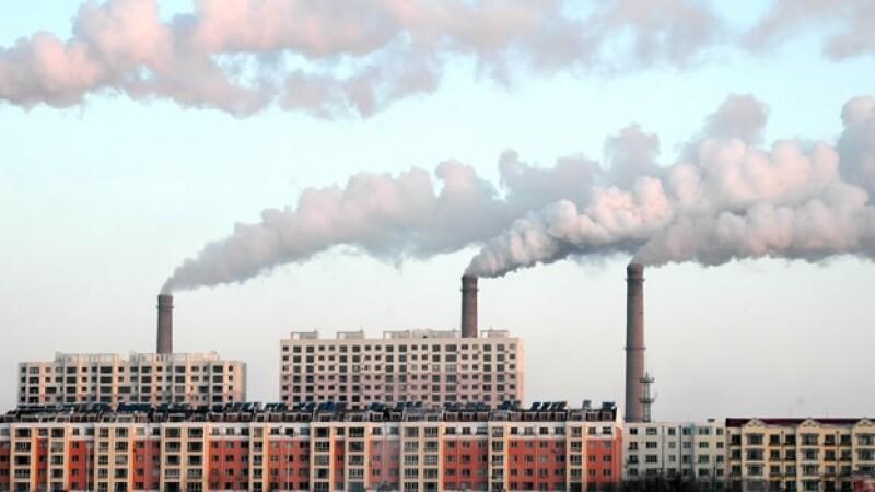 contaminación aire fábricas CO2