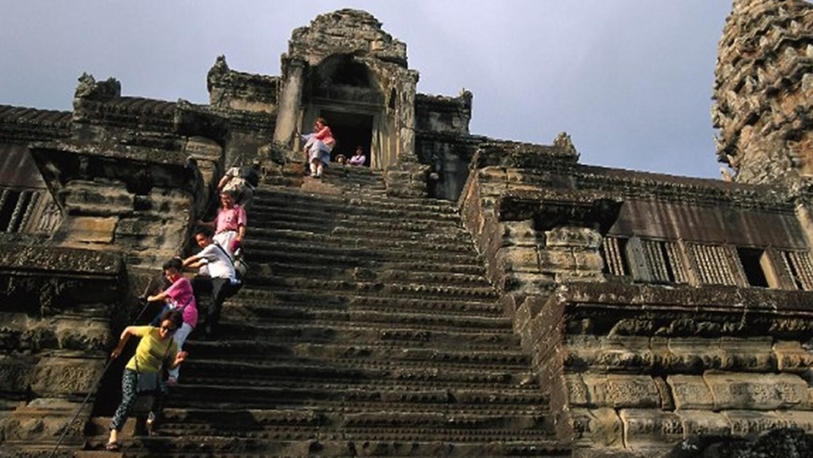Angkor Wat Temple Escaleras, Camboya