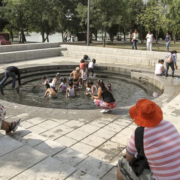 En la fuente