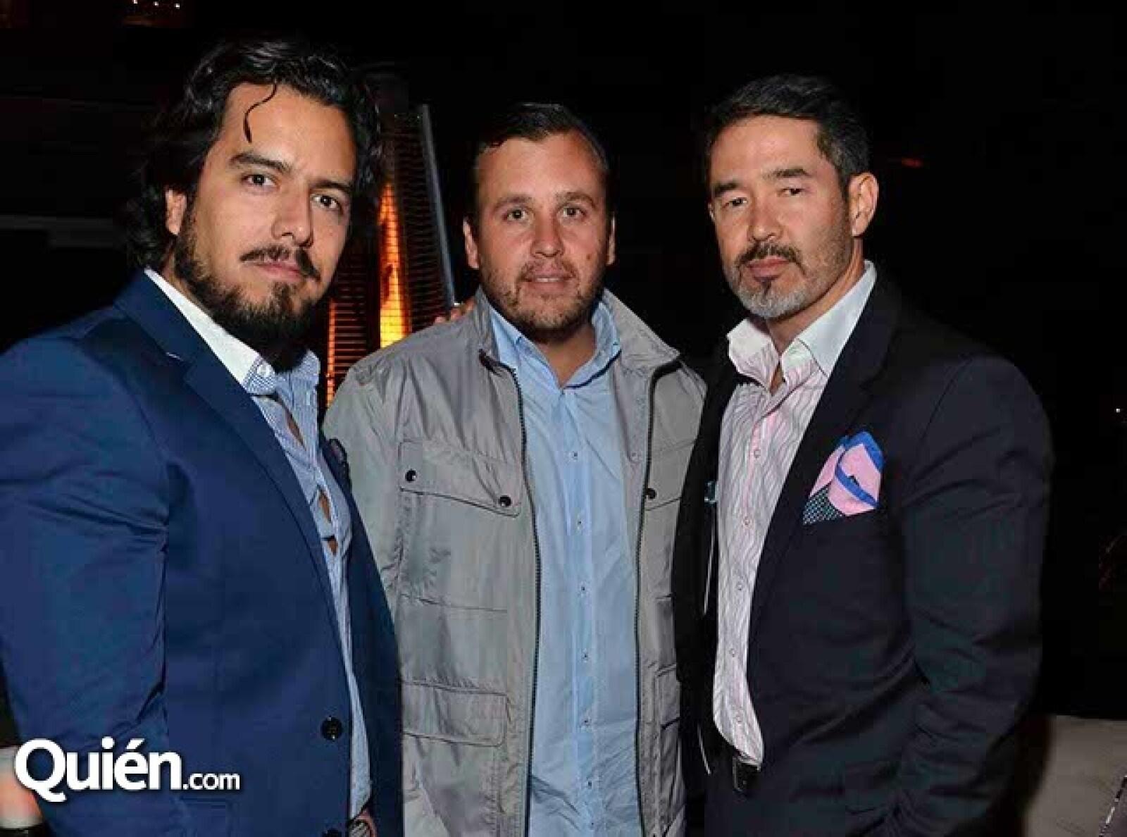 Juan Barrón,Alejandro Ruíz y Marco Nancarrow