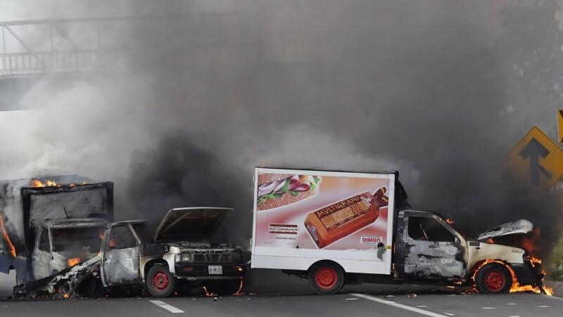 Antunez quema de camiones Michoacan