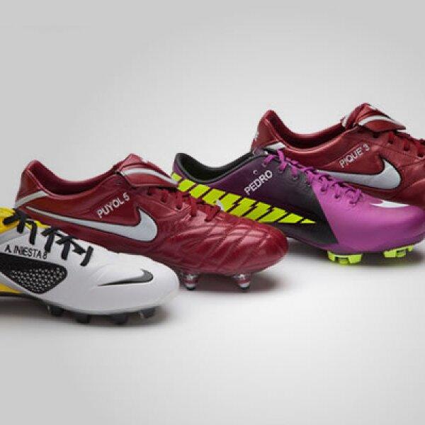 Nike diseñó para el partido de la final ediciones especiales de los botines para los futbolistas que patrocina. La firma no ha revelado si comercializará estos accesorios.