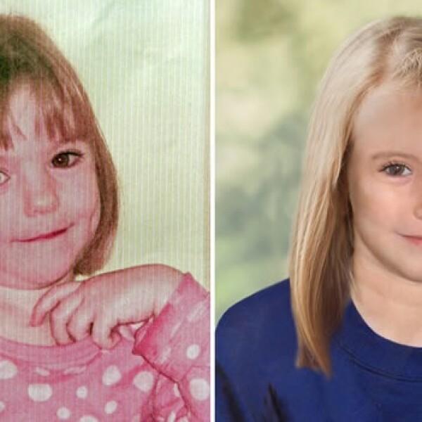 Reconstrucción de la apariencia de Madeleine McCann a los 9 años