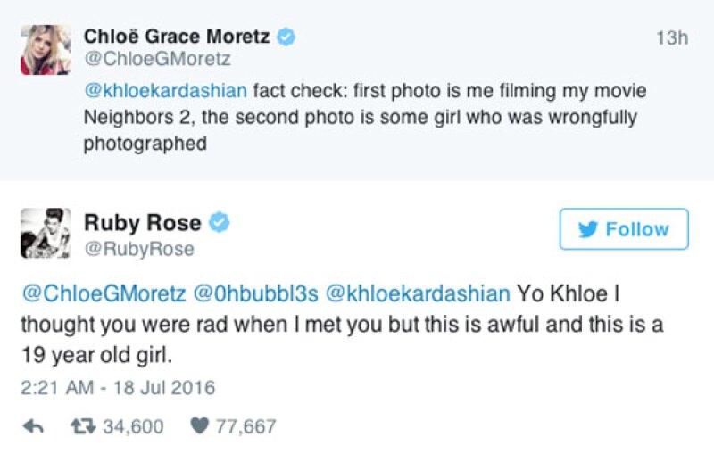 Ruby Rose no dudó en defender a la actriz.