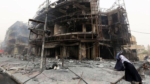 La fuerza de la explosión fue tal que destruyó un edificio de varios niveles.