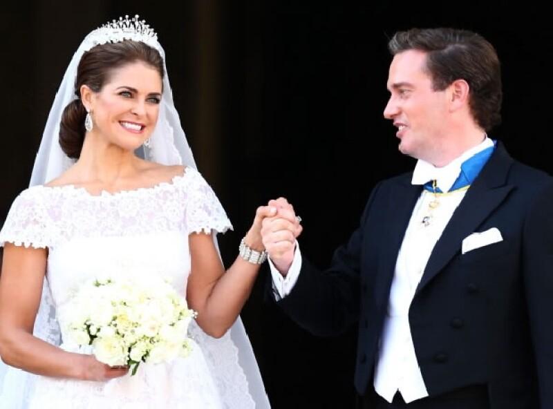 El enlace se llevó a cabo en la Capilla Real del Palacio de Estocolmo en junio de 2013.