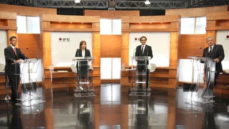 Foto del debate del IFE