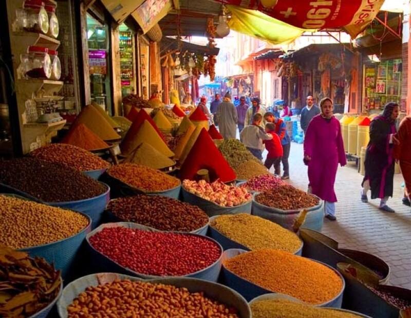 Los mercados de Marrakech son un must.