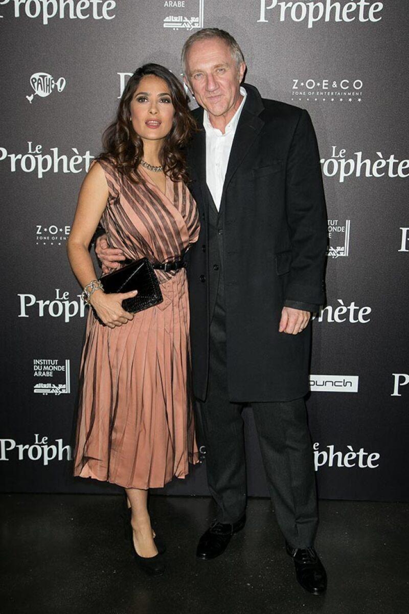 La actriz estuvo acompañada de su esposo Francois-Henri Pinault en el evento.