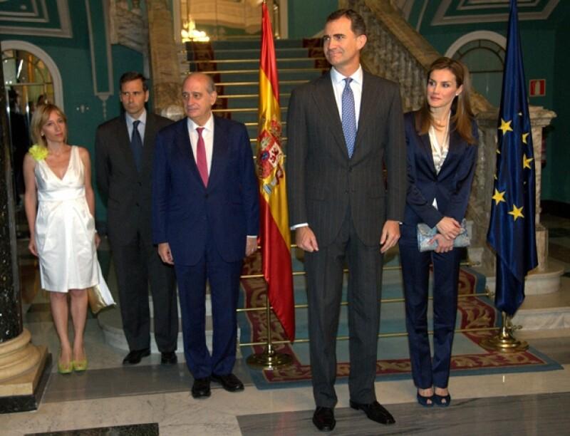 Don Felipe y Doña Letizia asistieron este sábado en Madrid al primer acto social desde la inauguración de su reinado.