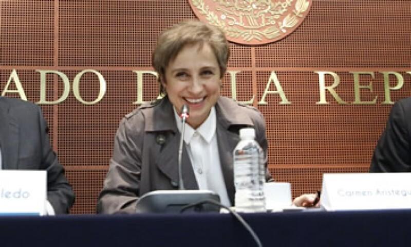 MVS dio por terminada la relación laboral con Aristegui el 15 de marzo pasado. (Foto: Cuartoscuro )
