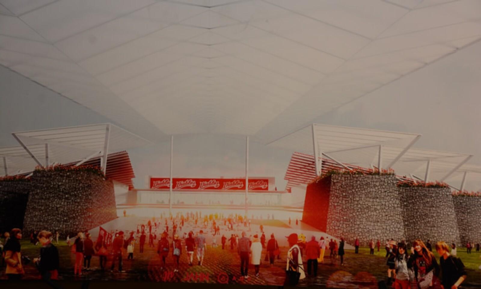 Este estadio será construido en 7 hectáreas de terreno, y albergará a más de 13,000 aficionados al béisbol.
