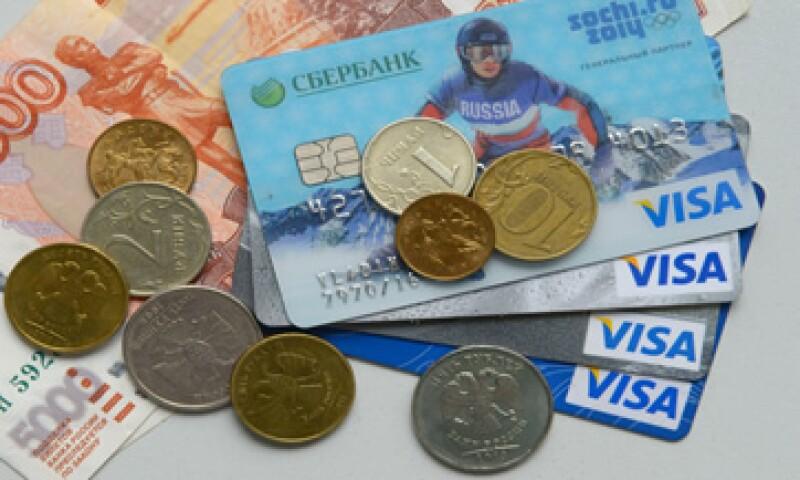 La ganancia de Visa aumentó a 1,360 mdd.  (Foto: AFP)