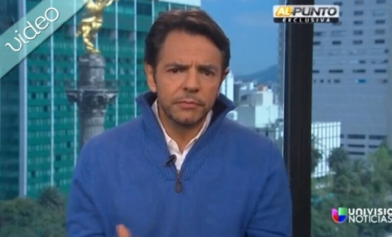 Aunque pocas veces interviene en temas políticos Eugenio se dijo dolido por la situación que vive el país.