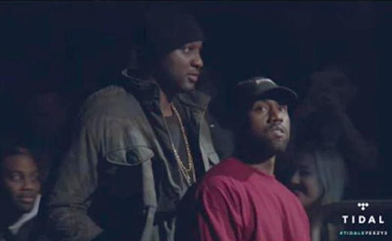 Lamar entró junto a Kanye para la presentación de Yeezy Season 3.